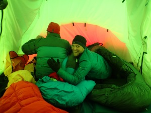 Tent bonding time