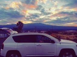 Sunrise over Hualalai volcano.