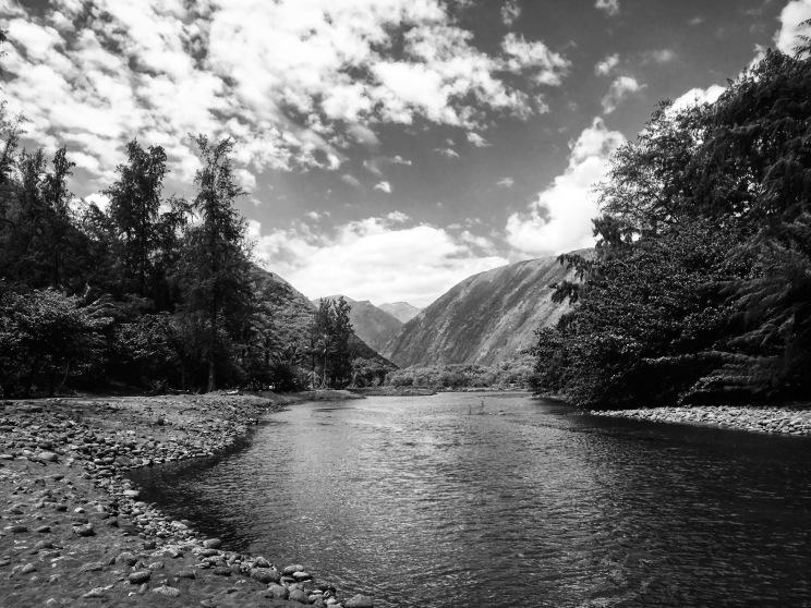 Crossing Wailoa stream